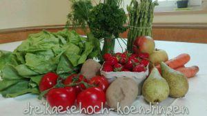 Einkauf beim Gemüsestand